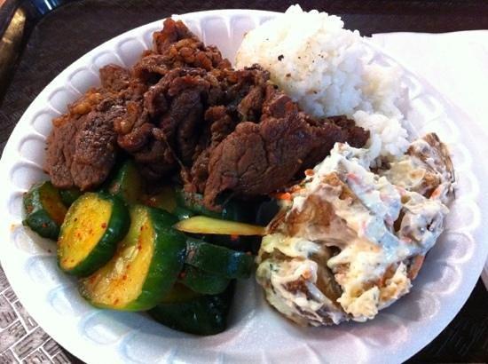 Yummy Korean BBQ: BBQ Beef combo