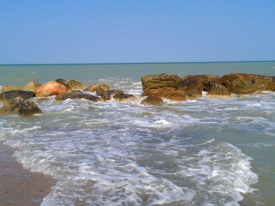 Hotel Ristorante Giannino: Spiaggia di fronte all'hotel