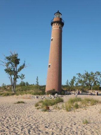 Little Sable Point Lighthouse: It really isn't leaning, the photographer is!