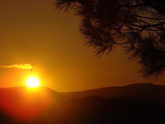 Le Valline: il tramonto