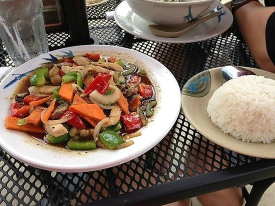 New Asia Authentic-Asian Cuisine : Patio setting HUGE PORTIONS