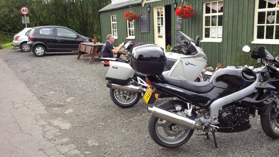 Brig o' Turk Tearoom and Restaurant : our bikes parked up outside