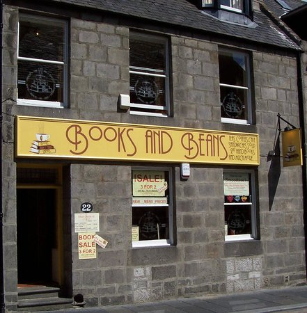 Books and Beans: That's our front door so you'll know us when you see us!