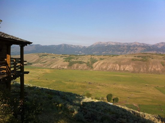 Spring Creek Ranch: View from the 2 bed cabin
