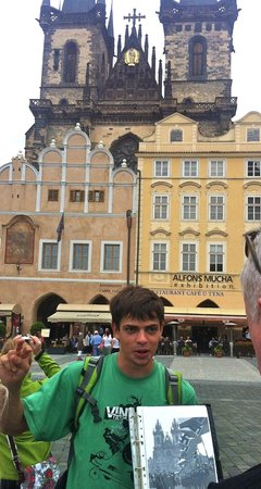 World War II in Prague Tour: Old Town Square 1939 and 2013