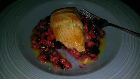 212 Market Restaurant : Salmon - Risotto tossed with Kale and Beets