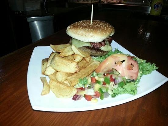CKs Bistro: black angus 1/4 pound burger