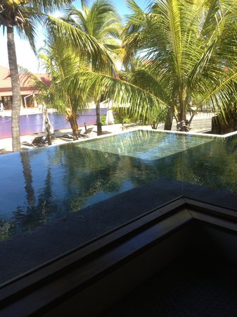 view overlooking pool area