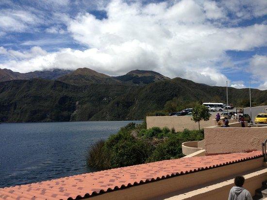 Laguna Cuicocha, เอกวาดอร์: Vista desde una parte de la hostería