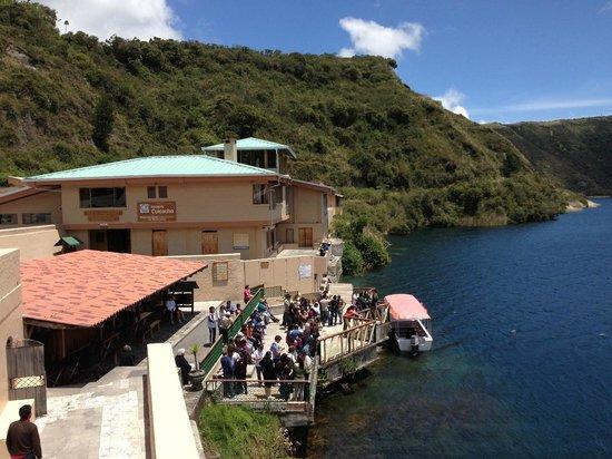 Hotel Mirador: Vista desde el parqueadero de visitantes