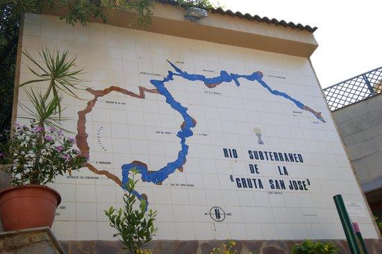 Coves de Sant Josep: el mapa del recorrido