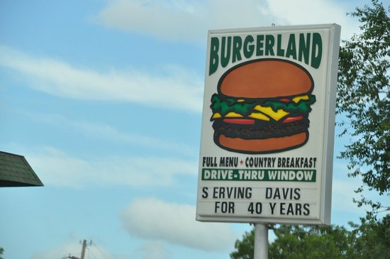 Burger Land : Signage at the Burgerland restaurant