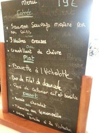 Sepia : menu à 19 € au sépia le 28/08/13