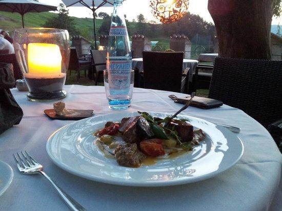Golf Hotel Sonne: una cenetta al tramonto...