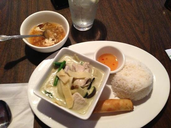 Thai crystal: green curry