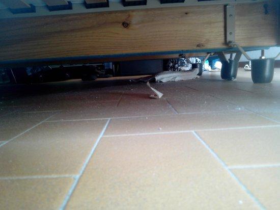 Hotel President: sporcizia sotto il letto