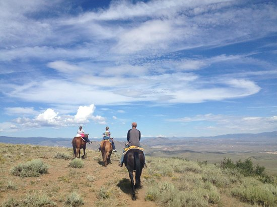 Rusty Spurr Ranch - view on 2-hour trail ride