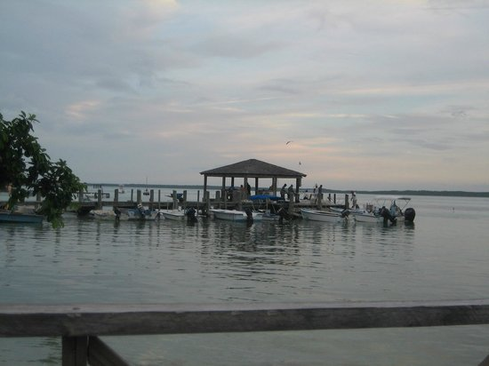 Queen Conch: View of the fishing dock from the seating.