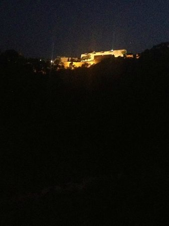 Hotel Maya Alicante: View from balcony- Castle lit up at night