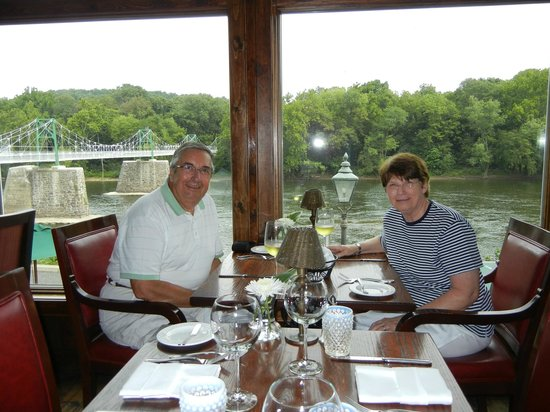 Black Bass Hotel Restaurant: Beautiful river view from restaurant.