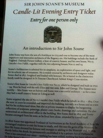 Sir John Soane's Museum: evening event