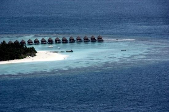 Coco Palm Dhuni Kolhu : Vue aerienne de l'ile