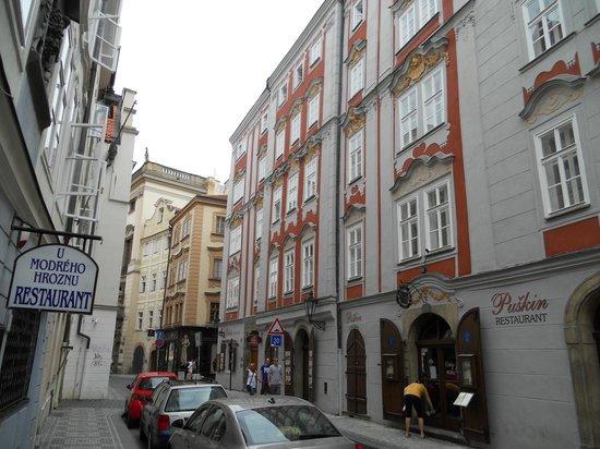 Pushkin Apartments: apt from street
