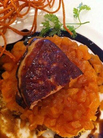 Hotel Bellevue : foie gras un peu trop poêlé ...