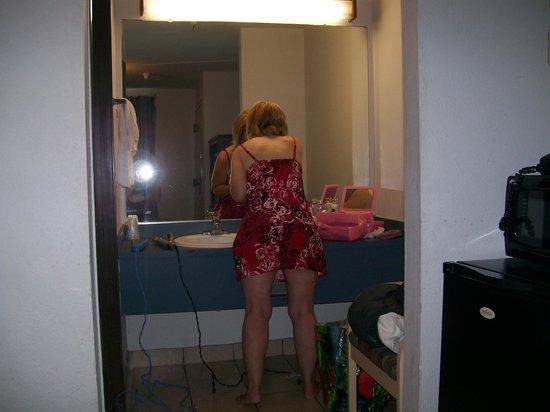"Motel Santa Cruz: Shown her is the ""poop chair"" facing the toilet."