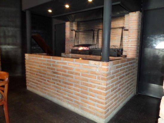 Corazon de Mexico: The open fire pit.