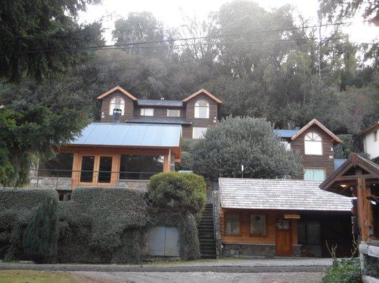 Cabanas Aba Salomon: Lugar para churrasco e recepção ( embaixo)