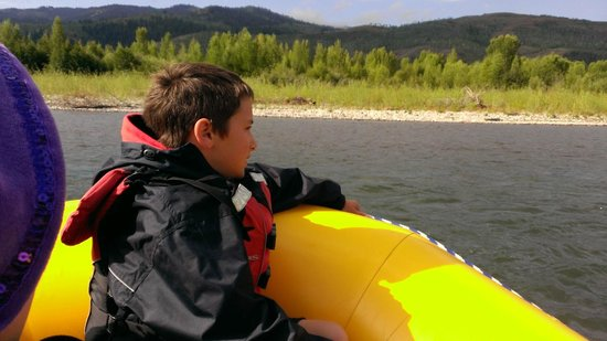 Mad River Boat Trips : Scenic Float on the Snake River - Teto Mountains in the background