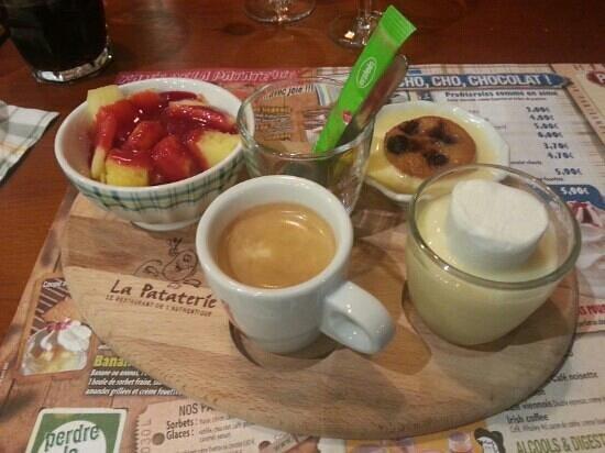 LA PATATERIE : café gourmand