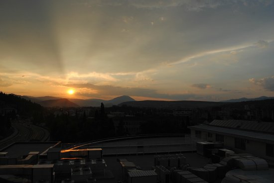 Ramada Podgorica: Sunset from the balcony