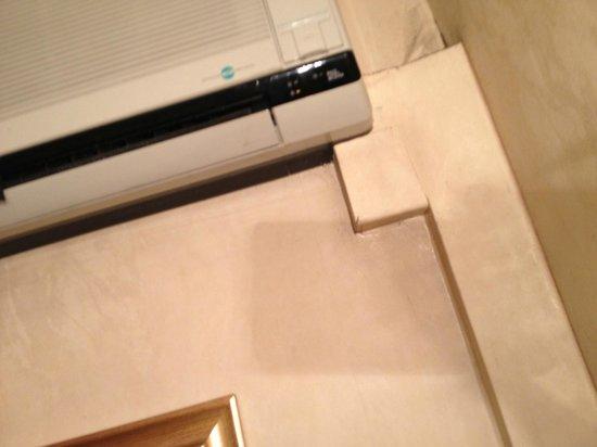 Pace Helvezia Hotel: Beskindte vægge. Det er air conditioner i 4 stjernes hotel!