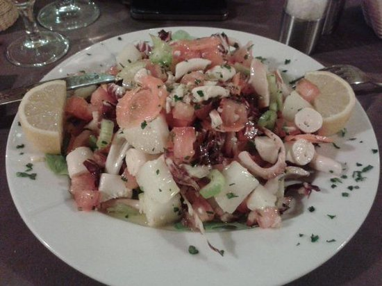 Grazie Mille : salade poulpe