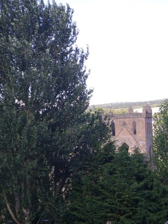 Meadhon House: Jedburgh Abbey from our bedroom window