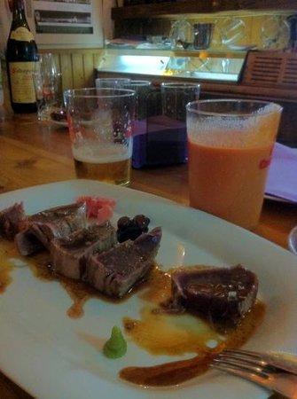Restaurante Ramon Pipi : Tataki de atún (descargamento). Simplemente genial.
