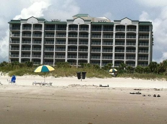 The Resort on Cocoa Beach: View of hotel from the beach