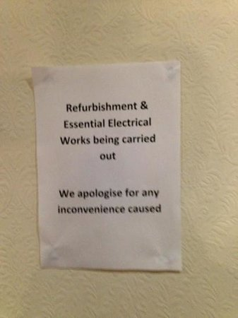 The Victoria Hotel: renovations notice
