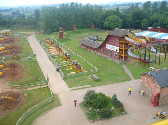 Diggerland : View of one side of the park from the sky jcb!