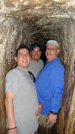 City of David National Park: Water Tunnel in the City of David - tight squeeze !