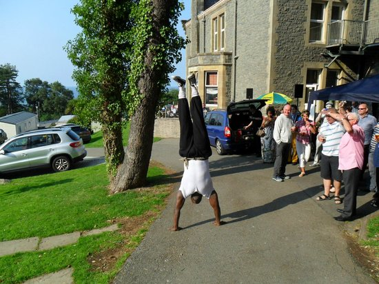 Craiglwyd Hall Caravan Park: upside down raj at the funday