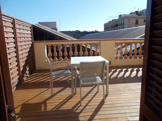 Exe Ramblas Boqueria: Terrace room 101