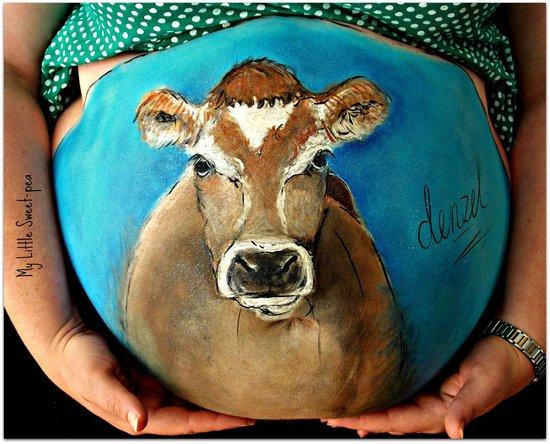 My Little Sweet-pea: Cow bump