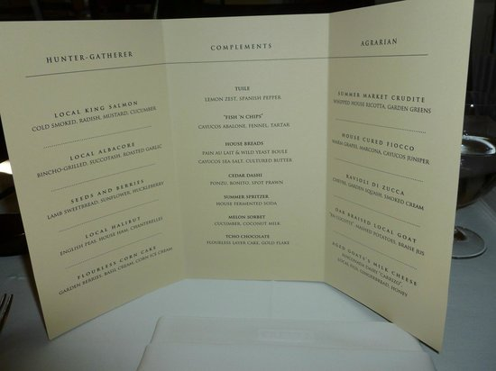 Cass House Restaurant: We had everything on this menu