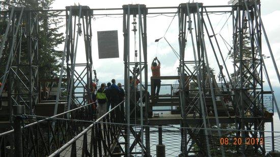 Icy Strait Point ZipRider : Launch structure.