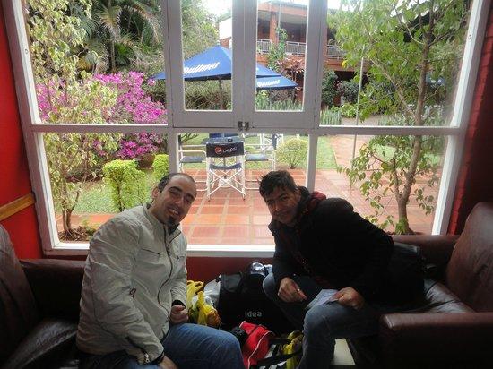 Marcopolo Inn Iguazu : Este  es nuestro ultimo dia en el hostel ,no queriamos dejarlo .....