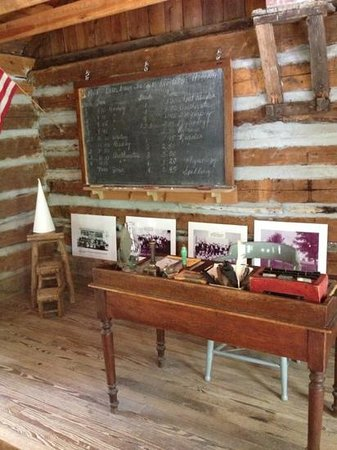 Harrisville, MI: inside school