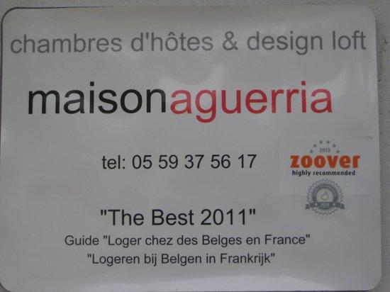 Maison Aguerria: Bekroond door Zoover